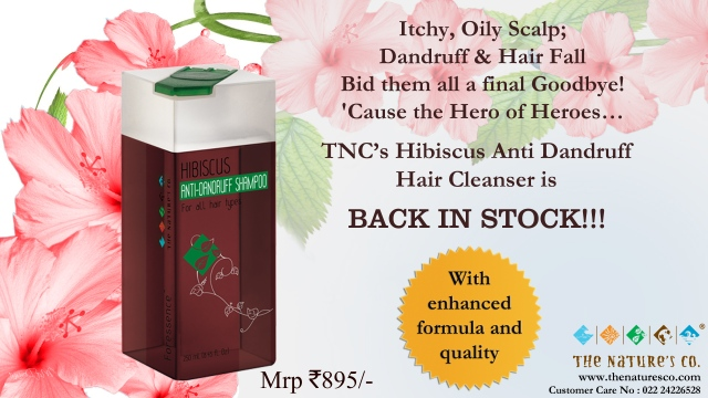 Back in Stock - Hibiscus Anti-Dandruff hair Cleanser