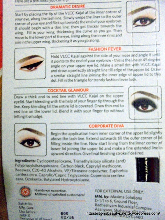 VLCC Enchanting Eyes Kajal Review